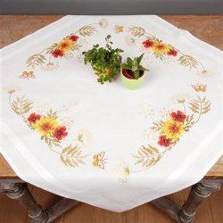 Tafelkleed kit Zonnebloemen en papavers