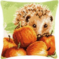 Kruissteekkussen kit Egel met appels