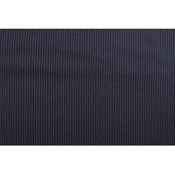 Gaberdine met kleine strepen blauw 10271 008