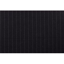 Gabardine met grote strepen stretch zwart 10270 069