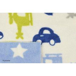 Flanell Fleece dubbeldoek met auto en vliegtuig