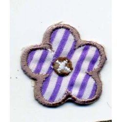 Applic. Bloem lila-wit gestreept