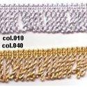 Franje Gedraaid met lurex goud of zilver 20 of 40 mm