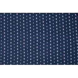 Jersey bedrukt met driehoeken blauw 006