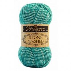 Stone Washed. Pendikte 3-3,5 mm. Kleur 824 Turquoise Scheepjeswol.