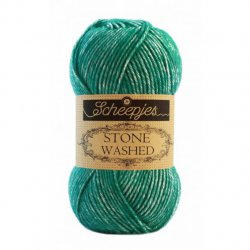 Stone Washed. Pendikte 3-3,5 mm. Kleur 825 Malachite Scheepjeswol