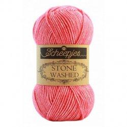 Stone Washed. Pendikte 3-3,5 mm. Kleur 835 Rhodochrosite Scheepjeswol