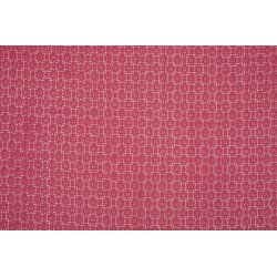 Katoen Nylon met bloemen 11605 roze 013