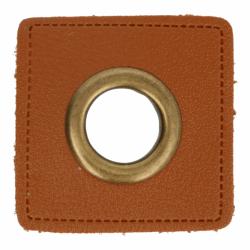 Nestels brons op Skai-leer bruin 8-11 of 14 mm