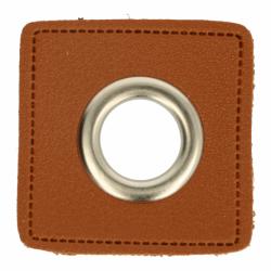 Nestels nikkel op Skai-leer bruin 8-11 of 14 mm