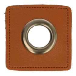 Nestels oud nikkel op Skai-leer bruin 8-11 of 14 mm