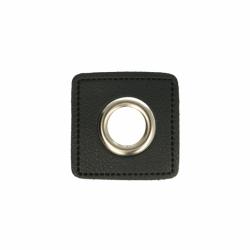 Nestels nikkel op Skai-leer zwart 8-11 of 14 mm