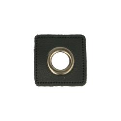 Nestels oud nikkel op Skai-leer zwart 8-11 of 14 mm