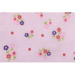 Poplin met bloemenprint 11057 roze 012