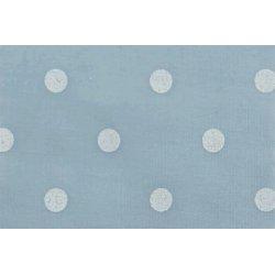 Poplin met Stippen 11054 blauw 002