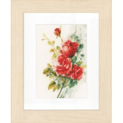 Telpakket kit Rode rozenboeket Lanarte