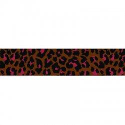 Elastiek luipaardprint band 40mm kleur 786 per cm/mtr te bestellen