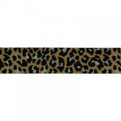 Elastiek luipaardprint band 40mm kleur 886 per cm/mtr te bestellen