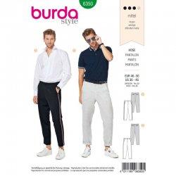 Burda 6350 broeken mannen van gabardine, wol of linnen