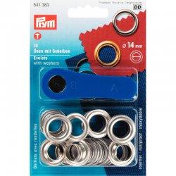 Prym Ring ook oogjes genoemd Zilver keuze 5-8-11 of 14 mm