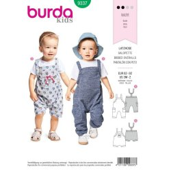 Burda 9337 Baby Overal van Tricot, Jersey, Punti of Jogging