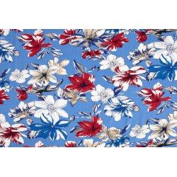 Viscose met bloemen 11468 blauw 003