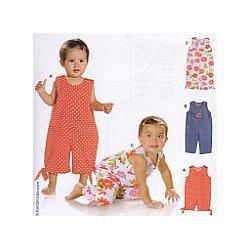 Burda 9652 Baby jumpsuit super Easy van Katoen of dunne jeans