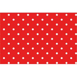 Tricot met grote stippen 11801 rood 015