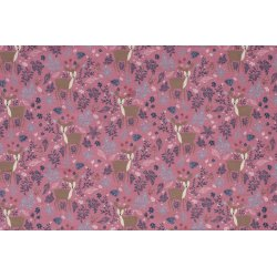 Loneta Bladeren 01469 roze 013