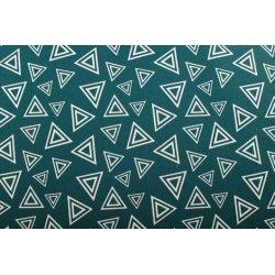 Ottoman met driehoeken 01392 blauw 024