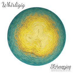 Scheepjes Whirligig 1x450g - 203 Teal to Yellow