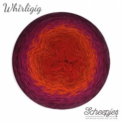 Scheepjes Whirligig 1x450g - 209 Plum to Red