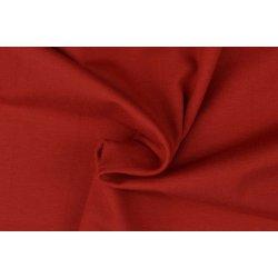 Organic Katoenen Jersey Uni 129322 5019 rood