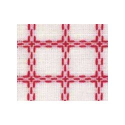 Beiersbont 5400.11 wit/rood 160 cm