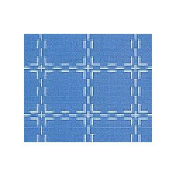 Beiersbont 5439 middenblauw/wit 160 cm