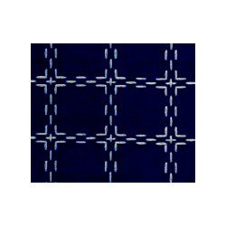 Beiersbont 5477 Marineblauw/wit 160 cm