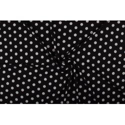Tricot/Jersey Viscose met stippen 02055 zwart 069