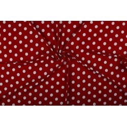 Tricot/Jersey Viscose met stippen 02055 rood 015