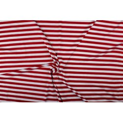 Tricot Viscose met strepen 02057 rood 015