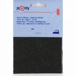 Pronty Reparatiedoek jeans opstrijkbaar 090 zwart