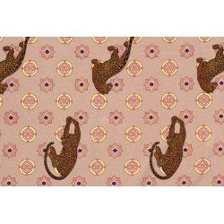 PL/SP CREPE DE LUXE stretch tijger 12424 beige 052