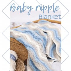 Baby Ripple Blanket Blue