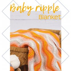 Baby Ripple Blanket Orange