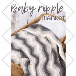 Baby Ripple Blanket Grey