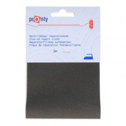 Pronty Reparatiedoek keperkatoen opstrijkbaar 078 grijs