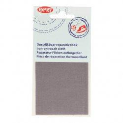 Opry Reparatiedoek opstrijkbaar 11x25cm 004 grijs