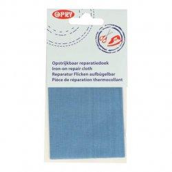 Opry Reparatiedoek opstrijkbaar 11x25cm 027 blauw