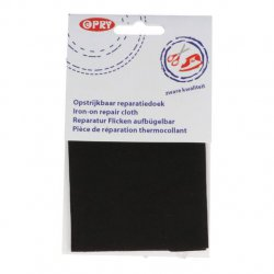 Opry Reparatiedoek stevig opstrijkbaar 12x40cm 0000 zwart