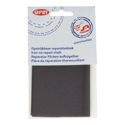 Opry Reparatiedoek stevig opstrijkbaar 12x40cm 0002 grijs