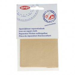 Opry Reparatiedoek stevig opstrijkbaar 12x40cm 0837 bruin